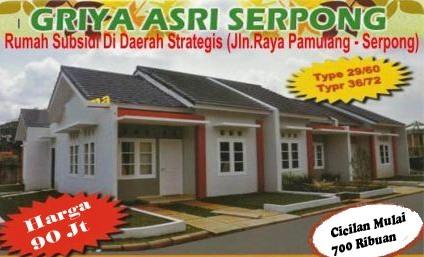 Rumah Dijual Murah KPR BTN Bersubsidi di Pamulang Serpong ...