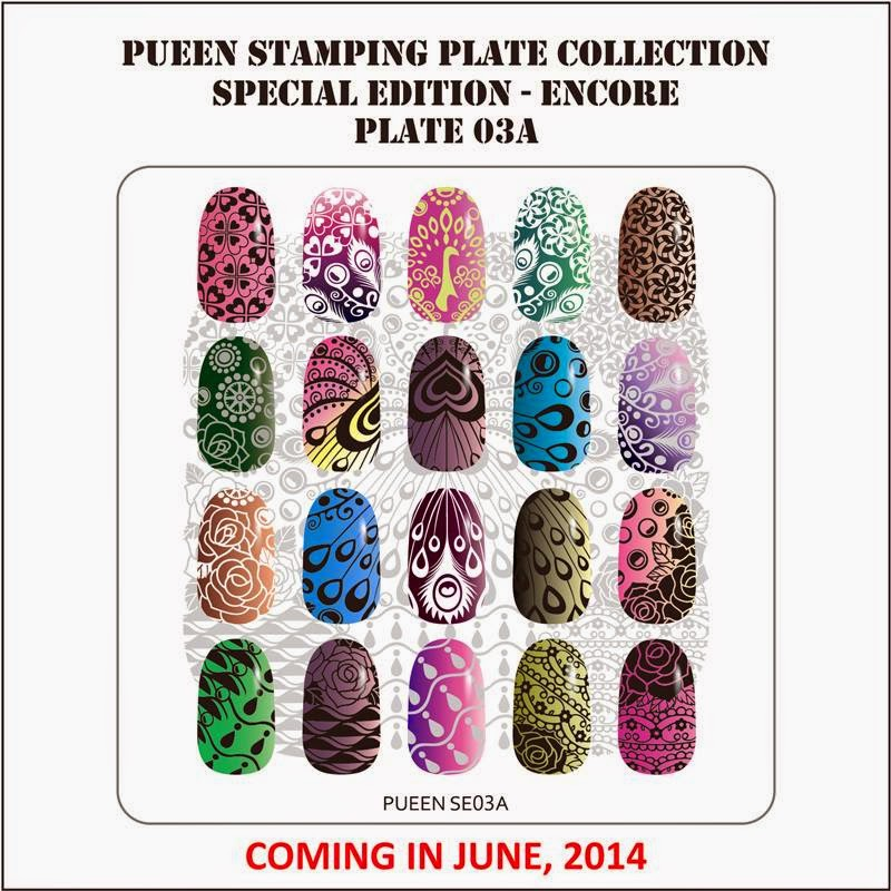 Lacquer Lockdown - Pueen Cosmetics, Pueen, Encore Collection, Pueen Encore Collection, new stamping plates 2014, new nail art stamping plates 2014, new nail art image plates 2014, new image plates 2014, new nail art plates 2014, diy nail art, cute nail art ideas, new nail art ideas,