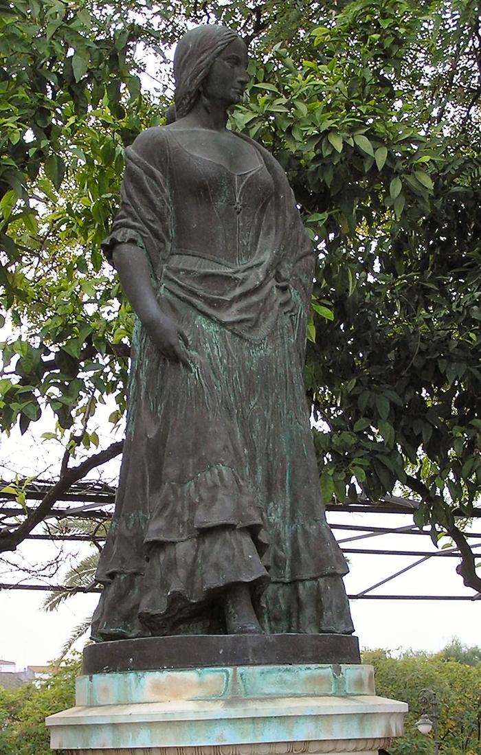 Statue of Carmen outside Maestranza Bullring, Sevilla