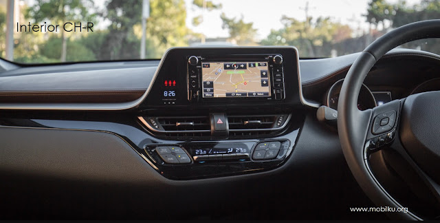 audio, chr, toyota, fitur, dashboard, kabin, interior