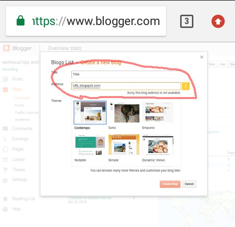 How to creat free blog, how to create blog in blogger