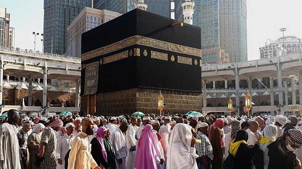 Keramaian di Masjidil Haram, Mekkah