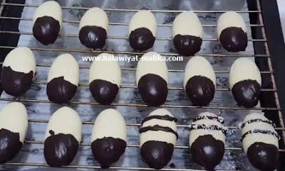 صبيعات بجوز الهند والشوكولاته