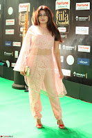 Nidhi Subbaiah Glamorous Pics in Transparent Peachy Gown at IIFA Utsavam Awards 2017  HD Exclusive Pics 34.JPG