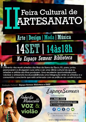 Feira Cultural de Artesanato - Evento de arte/design/moda/presentes/música