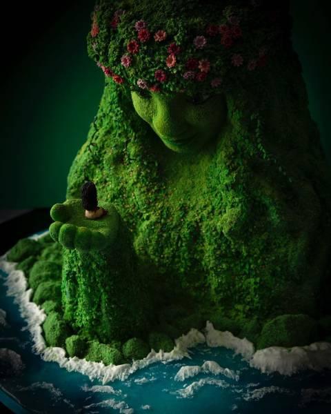 Esculturas de bolos que parecem reais