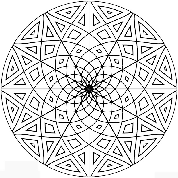 Pattern Colouring Pages