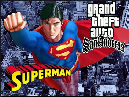 تحميل مود سوبرمان gta sa شرح تثبيت Superman Mod مود الرجل الخارق جاتا سان