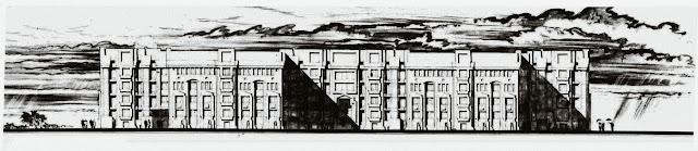 Петродворец, Биологопочвенный ф-т ЛГУ, проект фасадов, 1985г.