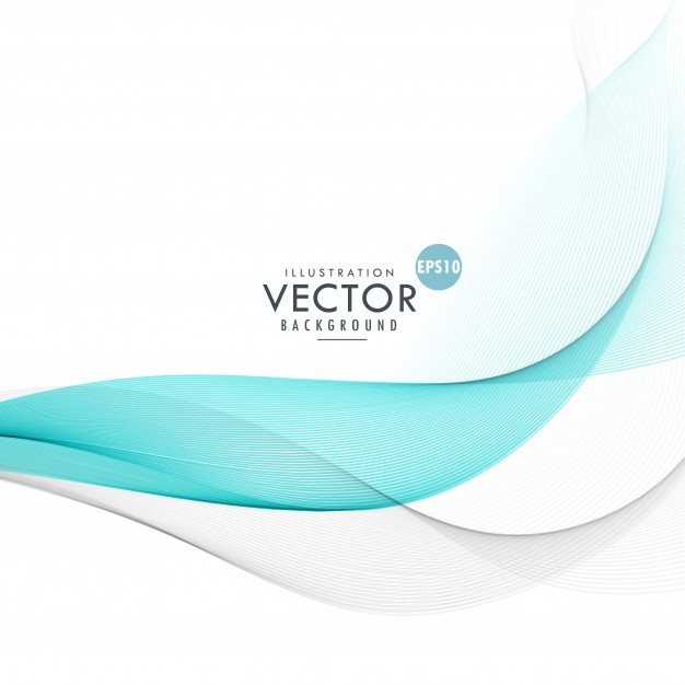 Abstract elegant blue wave background Free Vector