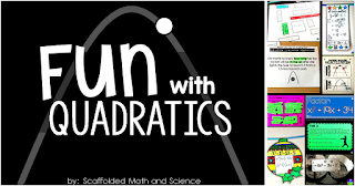 Fun quadratics activities for Algebra and Algebra 2