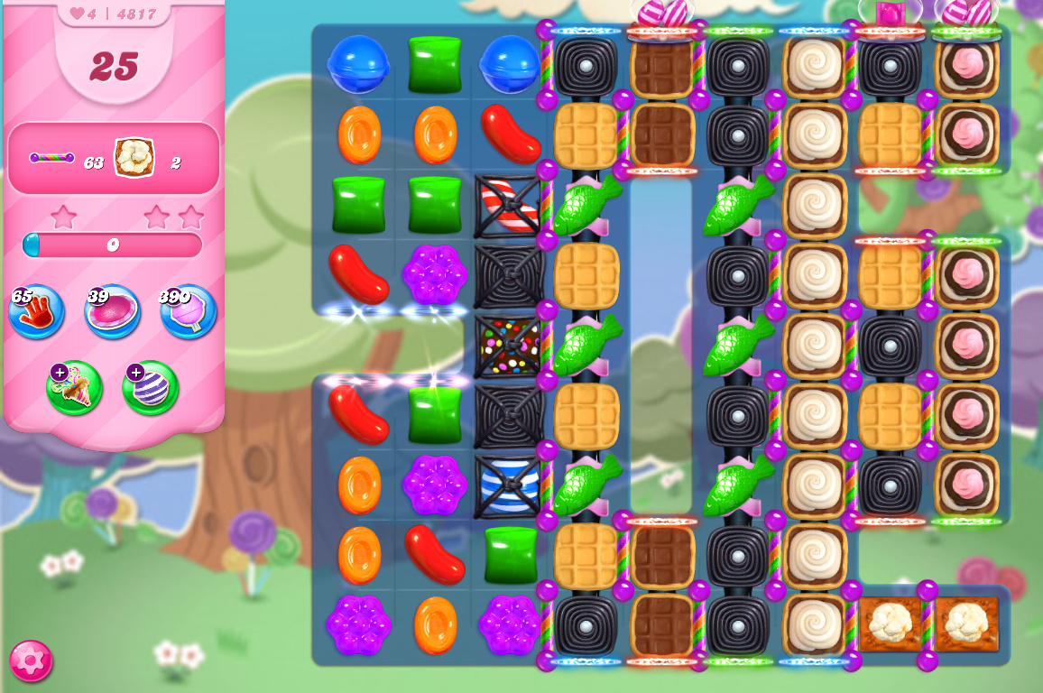 Candy Crush Saga level 4817