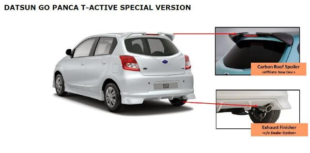 Tampilan Eksterior Belakang Hatchback Datsun GO Panca Edisi Spesial Lebaran