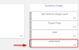 Menghapus link test this stream di blog