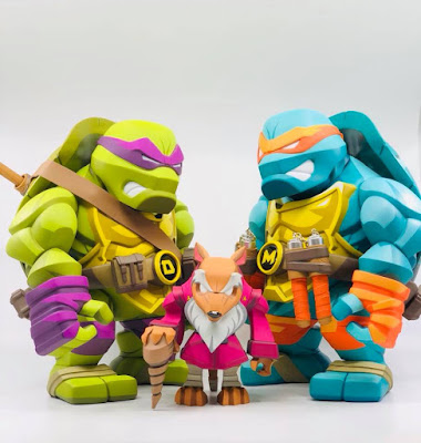 Teenage Mutant Ninja Turtles Donatello & Michelangelo Bulkyz Vinyl Figures by Big Boys Toys