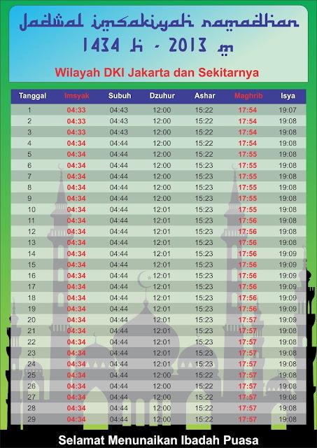 Jadwal Imsak 1434 Hijriyah 2013 seluruh Indonesia
