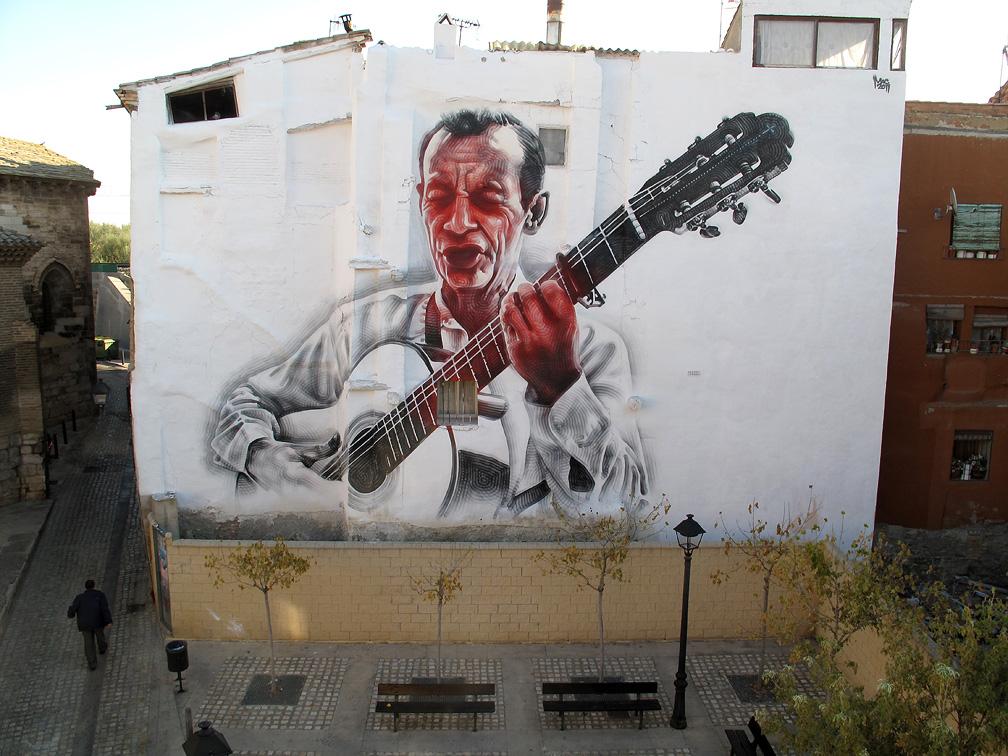 mac art new el mac mural in tudela spain el guitarrista. Black Bedroom Furniture Sets. Home Design Ideas