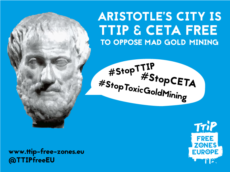 In Greece Standing Against Free Trade Agreements