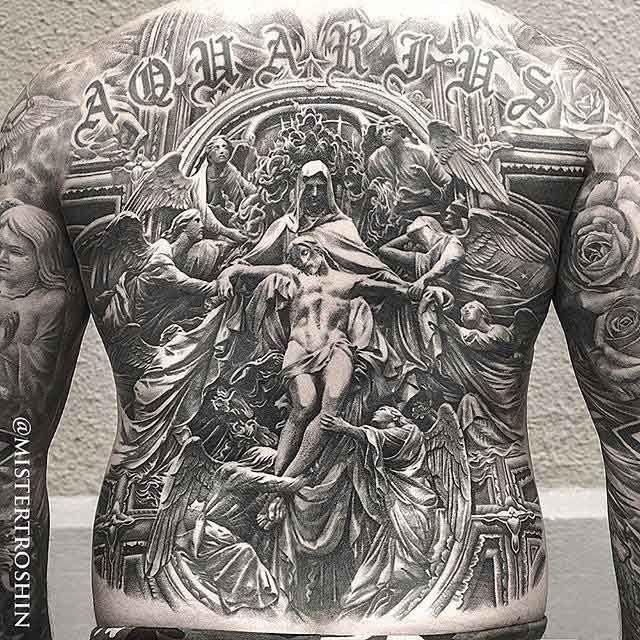 tatuaje en 3d, tatuaje en espectaculares tonos grises