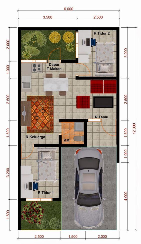 84 Koleksi Contoh Gambar Rumah Ukuran 6x12 Gratis Terbaik