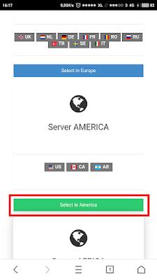 Pemilihan server America