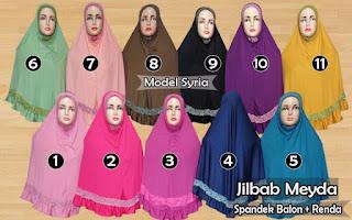 Jilbab meyda sefira model syria kombinasi renda