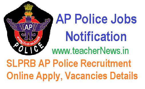 SLPRB AP Police Recruitment 2018 for 3137 Vacancies Details @slprb.ap.gov.in