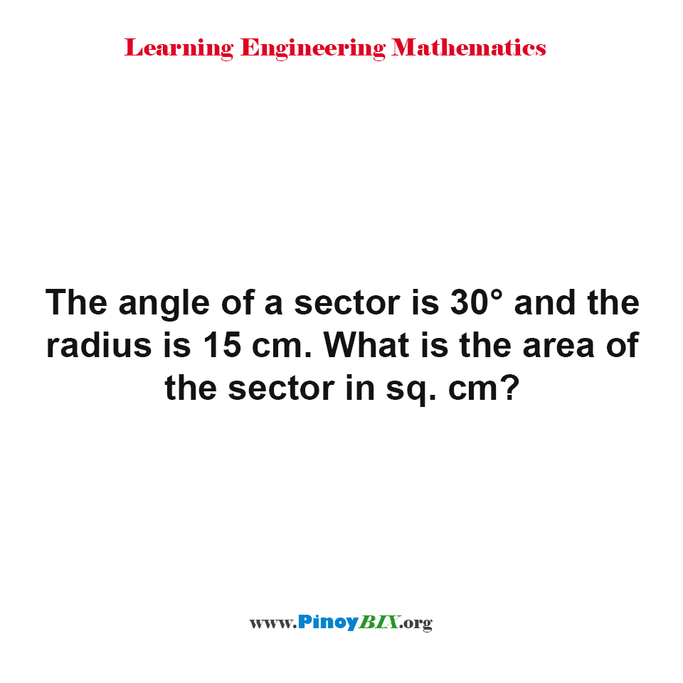 What is the area of the sector in sq. cm?