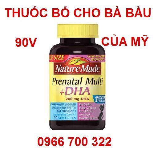 Thuốc bổ cho bà bầu Prenatal Multi DHA 90 viên