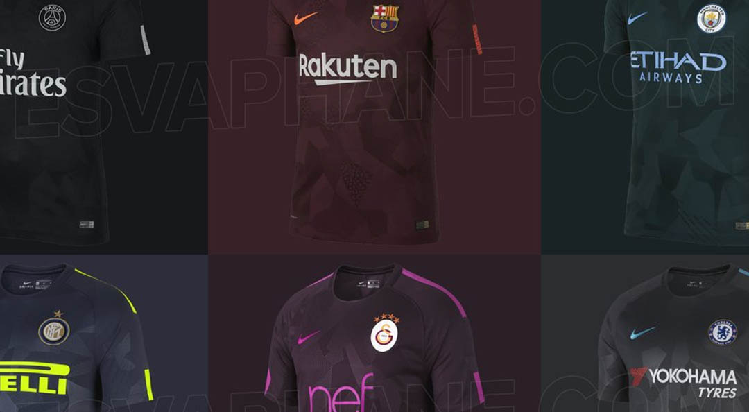 Update: All Nike 2017-2018 third kits (apart from Galatasaray) have been  released. Check them out below or have a look at the individual posts for  more ...