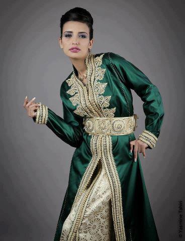 94f2671ffdc Vente Takchita Vert Brodé   Caftan Haute Couture 2013 - Caftan Marocain  Boutique 2019 - Vente Caftan en France Maroc