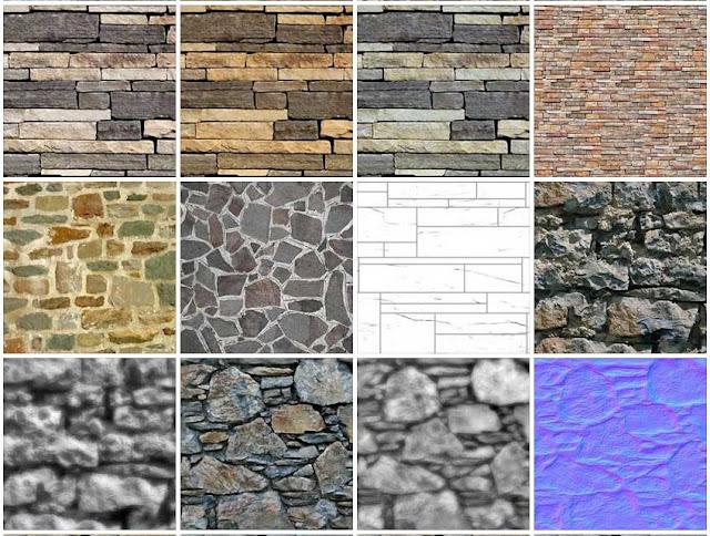 Dholpur Stone Elevation : Sketchup texture stone walls masonry