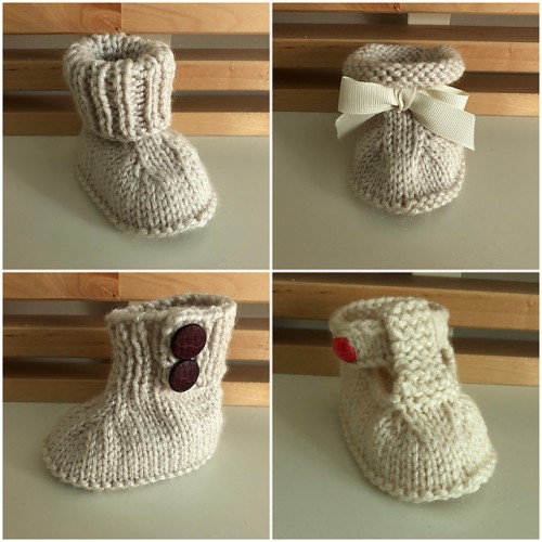 Seamless Baby Booties - Free Pattern