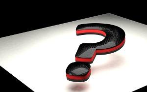 un punto interrogativo rosso e nero
