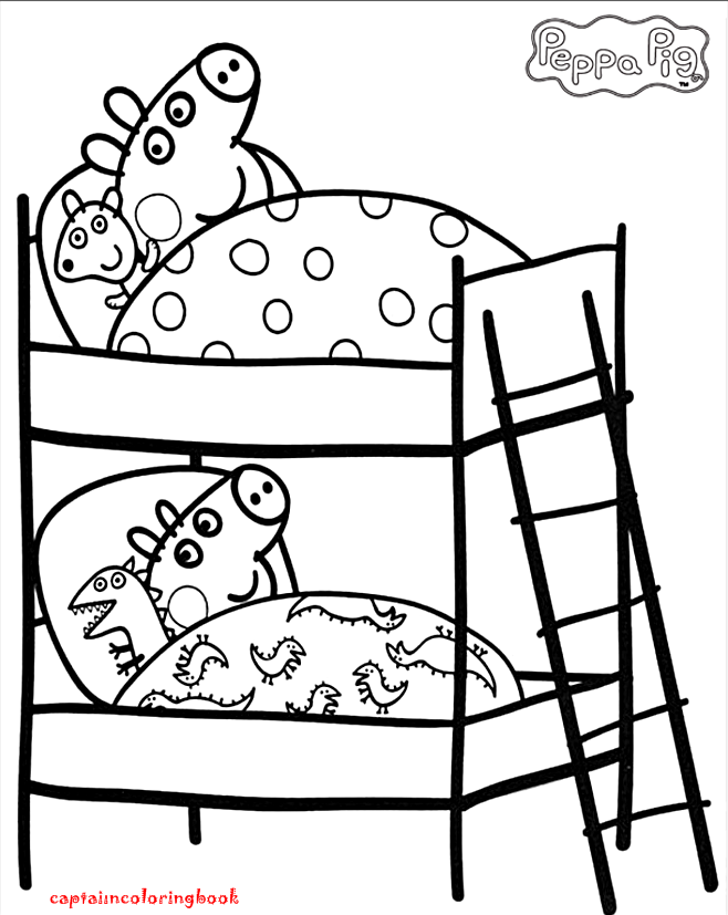 Peppa Pig Coloring Pages book - Coloring Page