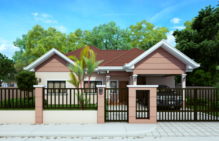 40 small house images designs with free floor plans lay for Modern house gate designs philippines
