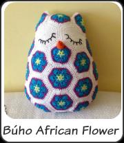Búho african flower