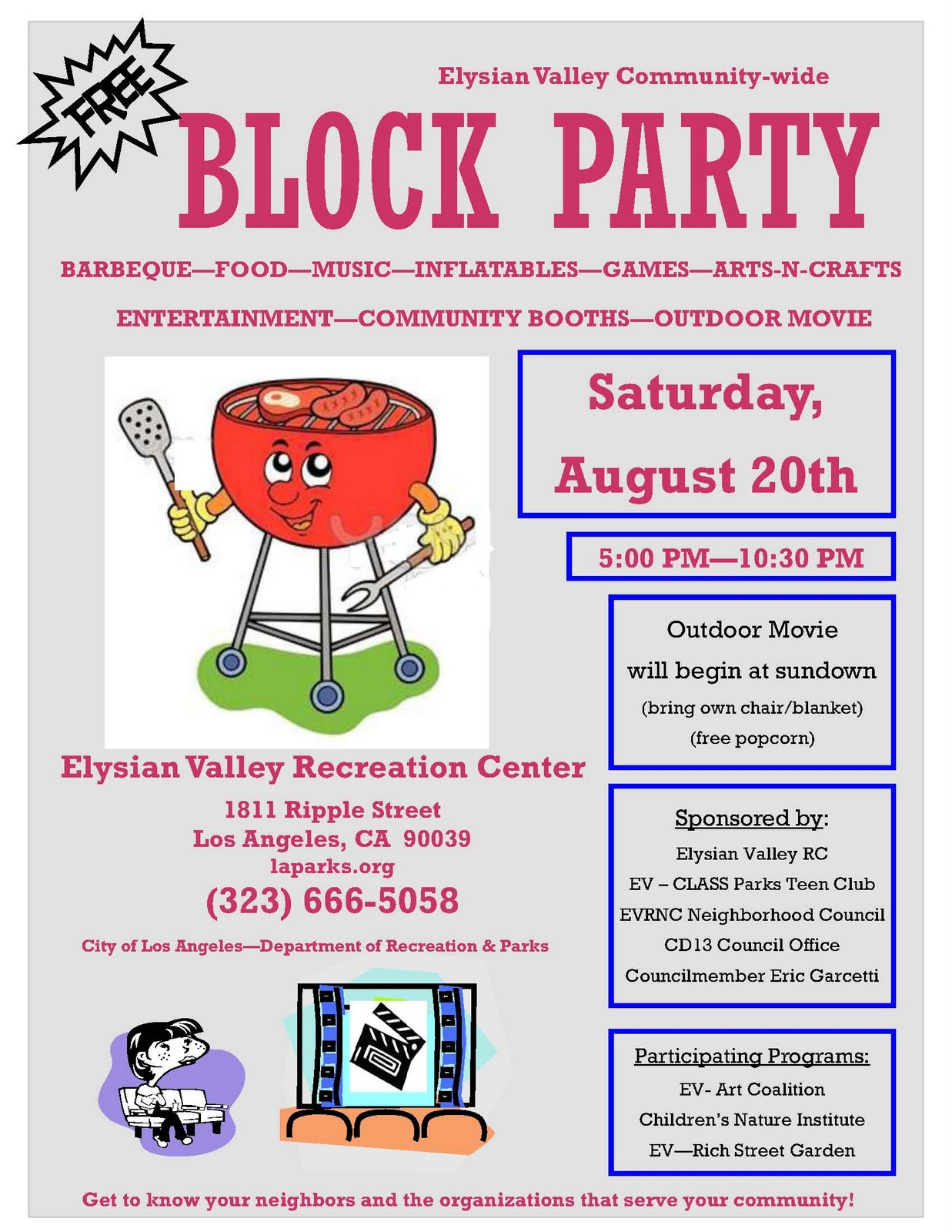 lacityorgcd13 elysian valley block party on august 20. Black Bedroom Furniture Sets. Home Design Ideas