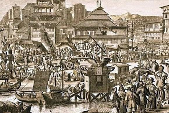 Pelabuhan banten yang ramai saat zaman VOC dan pendudukan belanda