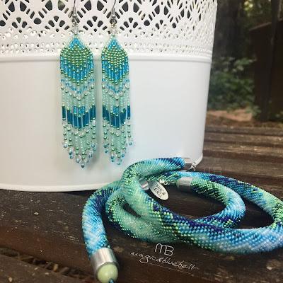 Kék menta fülbevaló