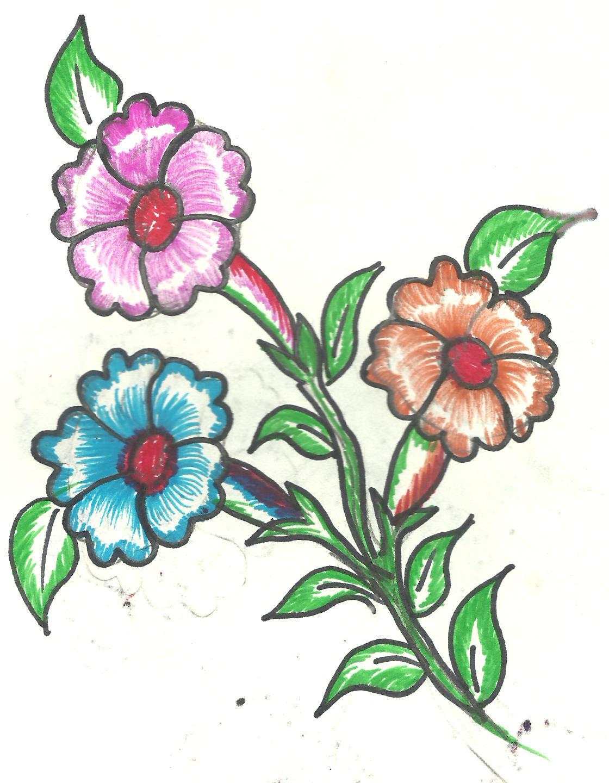 Art N Craft: Natural Flower Designs