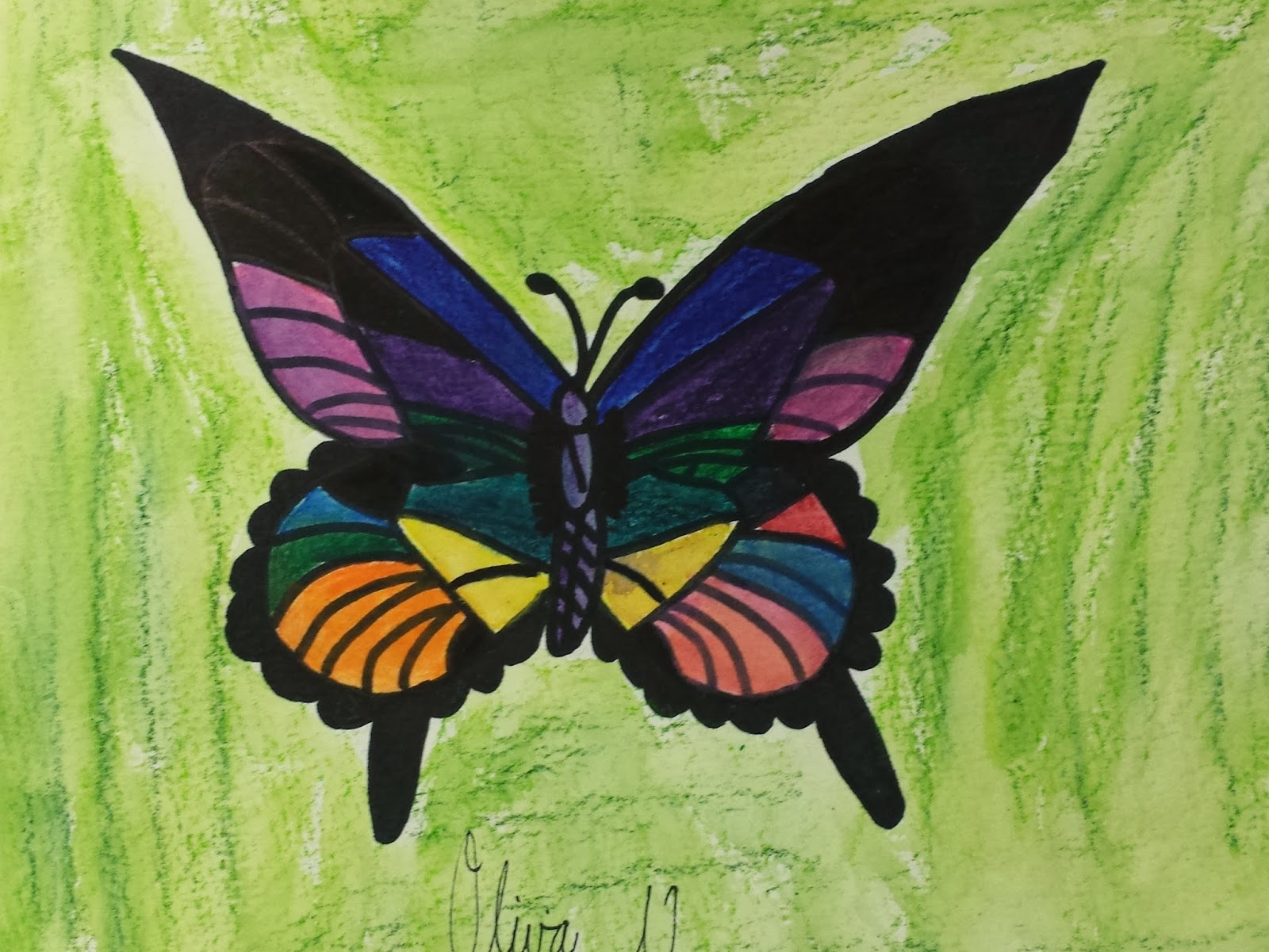 Sharpie Markers And Watercolor Easy Paintings Of Butterflies
