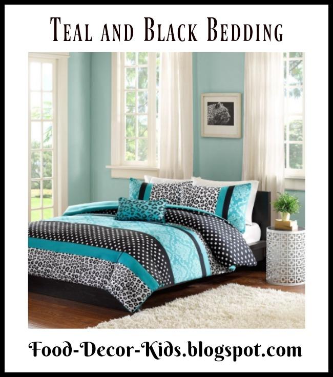 food decor kids teal and black bedding for the bedroom. Black Bedroom Furniture Sets. Home Design Ideas