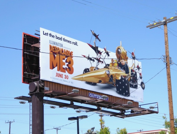 Despicable Me 3 Gru special extension billboard