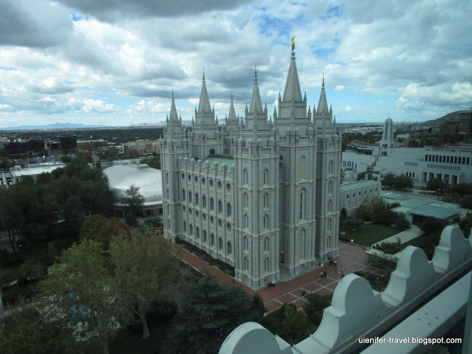 Храм мормонов Солт-Лейк. Солт-Лейк-Сити. Юта (Salt Lake Temple. Salt Lake City, Temple Square)