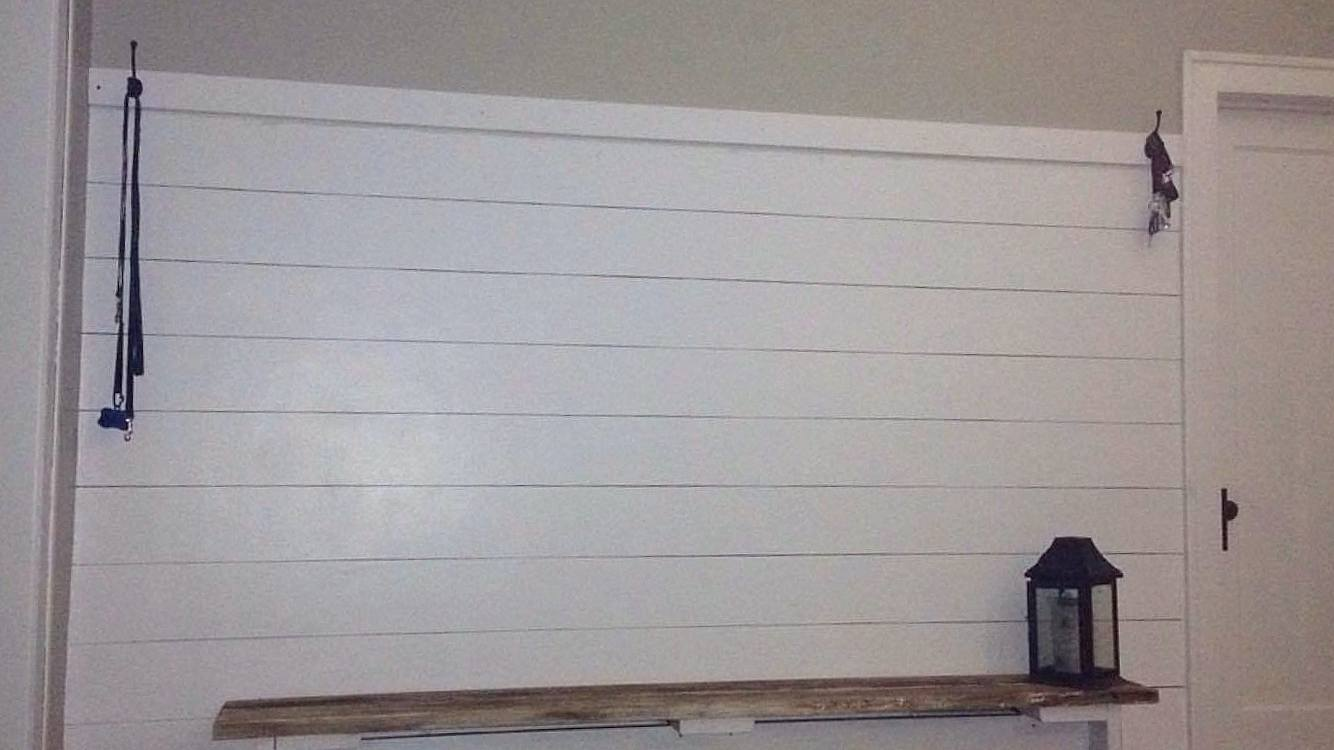 Faux Shiplap DIY Sharpie Shiplap and Painted Shiplap
