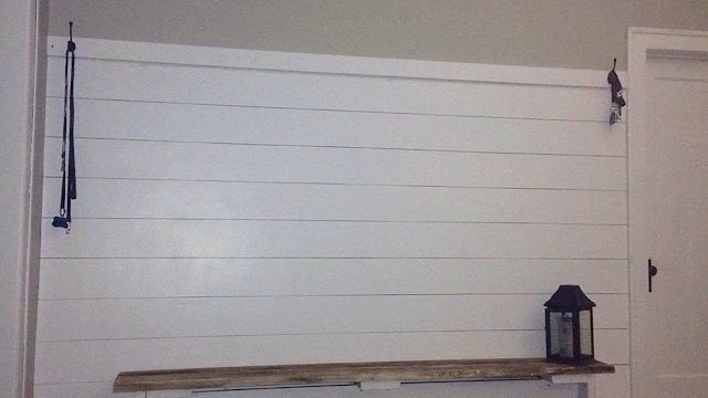 Creating a low cost shiplap wall