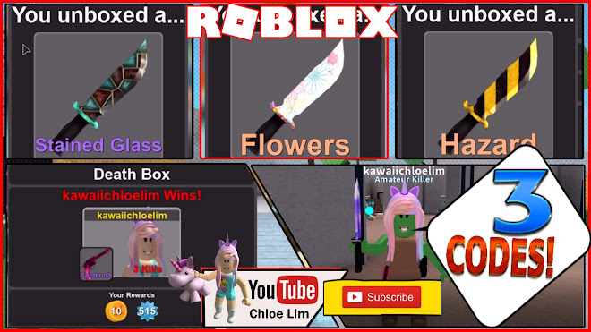 Roblox Murder Simulator Gameplay! 3 Codes and 2 Code Glitches - INFINITE UNIQUE CRATES and KNIVES!