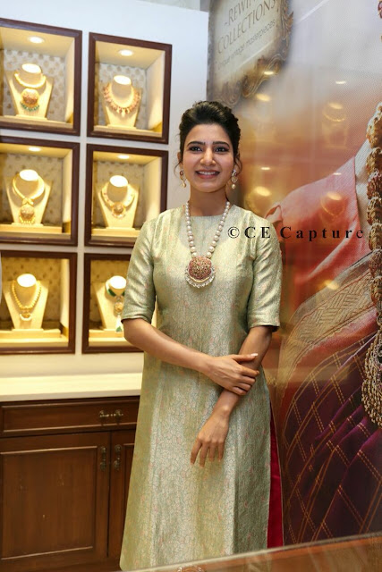 Actress Samantha at NAC Jewellers Inauguration in chennai