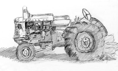 tractor sketch life minneapolis moline farm wheeler